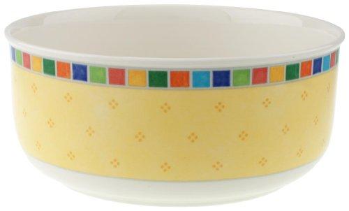 Villeroy & Boch Twist Alea Limone Runde Schüssel, 20 cm, Premium Porzellan, Weiß/Gelb Villeroy Boch Twist Alea