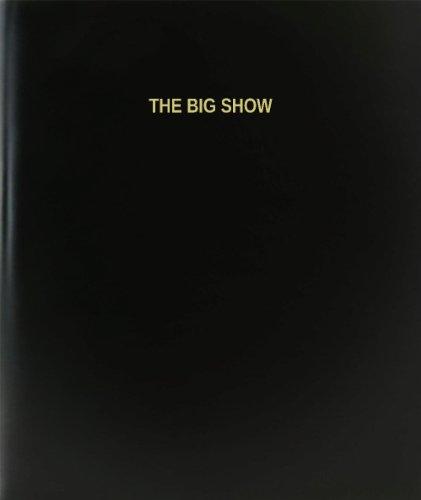 """BookFactory® El gran espectáculo libro de registro/diario/diario página–120, 8,5""""x11,"""" negro Hardbound (xlog-120–7cs-a-l-black (el gran espectáculo libro de registro))"""