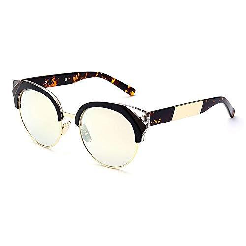 XHCP Frauen Klassische Sonnenbrille Unisex semi-randlose UV-Schutz Sonnenbrille farbige Linse im Freien Fahren Reisen (Farbe: C6)