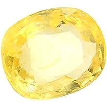 Proaom Jaipur Stone 5.25 Ratti to 6.25 Ratti Certified Ceylon Natural Yellow Sapphire Gemstone (Pukhraj)