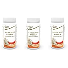 Vita World Pack de 3 Nattokinase 100mg 2000 FU 3 x 90 Capsules résistant à l'acide gastrique Made in Germany