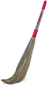 CHAND SURAJ Stainless Steel Strong Eco-Friendly Extra Grass Floor Broom Stick (King Size, Multicolour)