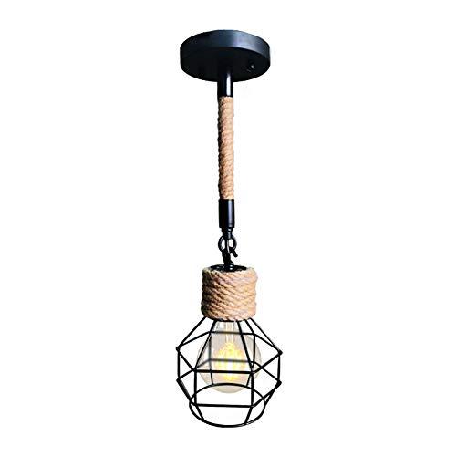 WYNA Industrielle Retro Metall Vogelkäfig Anhänger Wandleuchten Loft Bar Küche hängende Deckenleuchte Kronleuchter