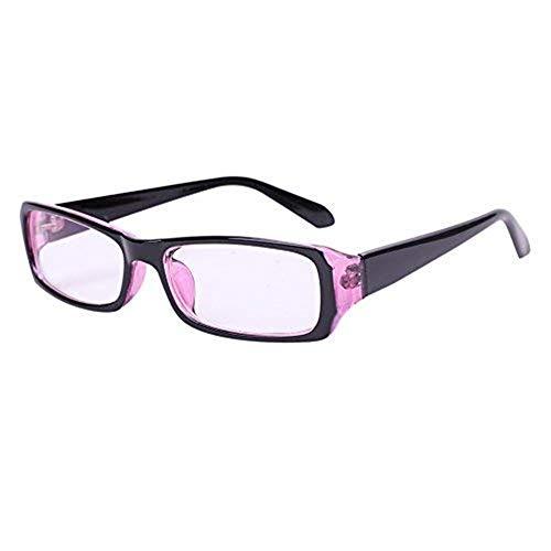 Brille ohne sehstärke cool unisex für Frauen und Männer clear fashion schmal Rahmen Strahlenschutz UV Schutz Verschiedene Farben mit Brillenetui