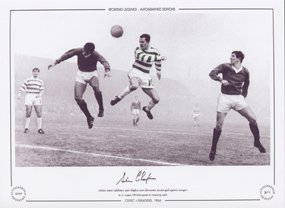 Steve Chalmers Celtic scores V Rangers 1966 - Signed Limited Edition by Sporting Greats