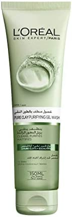 L'Oreal Paris Pure Clay Green Face Cleanser with Eucalyptus Purifies and Matifies, 1