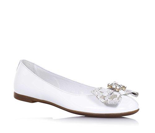 Miss Grant MISS GRANT - Weiße Ballerina aus Lackleder, made in Italy, eleganter und glamouröser Stil, ideal für festliche Anlässe, Mädchen, Damen-29