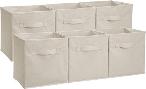 AmazonBasics - Cubos almacenamiento plegables pack