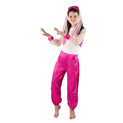 Kostüm Für Tänzer - Bodysocks® Bauchtanz Tänzer Kostüm für Mädchen (7-10 Jahre)