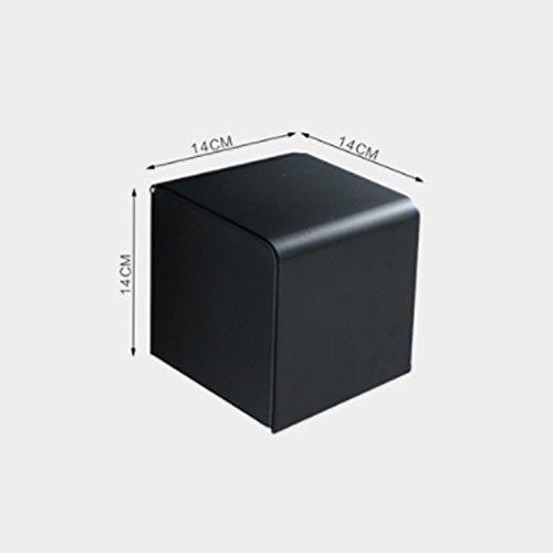 Preisvergleich Produktbild Wand-halterung schwarz aluminium gewebekasten, Wasserdichte roll holder bad griff toilettenpapier halter bad papier rack-E 14x14x14cm(6x6x6inch)