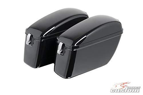 Customaccess AZ1033N Valises Rigides Customacces Silver (Paire) 20L Honda VT 750 C Shadow (RC50/08) '08-'09