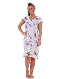 817c253006 Ladies Women 100% Cotton Cap Sleeve Nightwear Floral Short Nightdress M to  XXXL