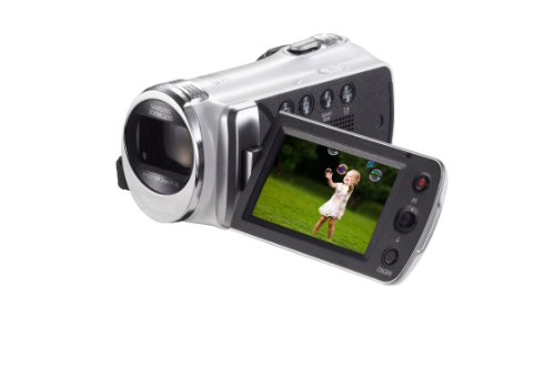 Samsung F90 White Camcorder with 2.7″ LCD Screen and HD Video Recording