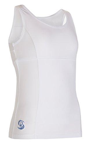 Mädchen Weiß Tennis Tank Top Netball, Fitness, Squash Sportswear 13-14 Jahre