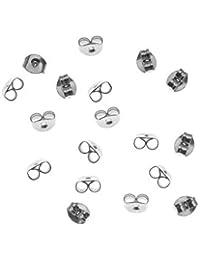 yeah67886hipoalergénico chapado en plata cierres de pendientes accesorios
