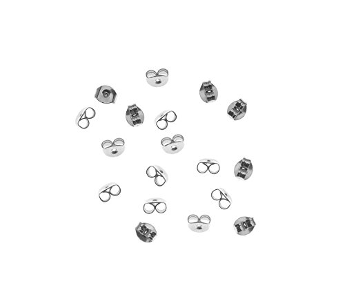 Yeah67886 Silver Plated Hypo Allergenic Earring Backs Accessories