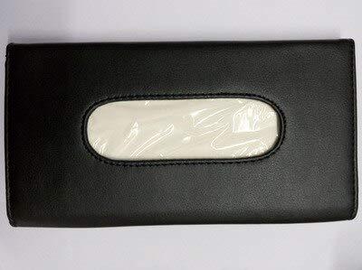 Car Pu Leder Car-Styling Tissue Box Case High Grade Serviette Papier Auto Interior Decoration Zubehör das Schwarz ()