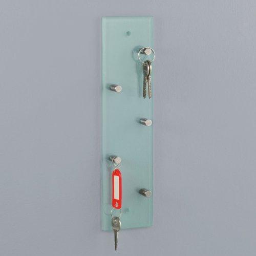 Glas Schlüsselbrett - Schlüsselhalter - Klarglas / Transparent