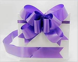 SHATCHI 30 mm/3 cm lazo grande para pared de fiesta, envoltorios de regalo, árboles de Navidad, boda, cestas de cumpleaños decoración floristería 30 unidades, color morado