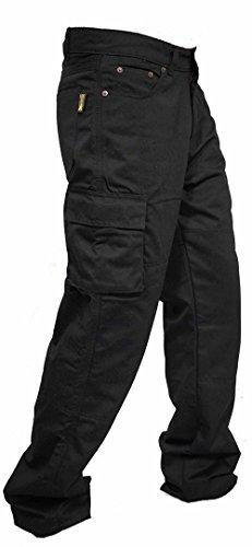 newfacelook Motorradhose Rustungen Arbeitshosen Jeans Fracht Verstärkt durch Aramid Schutzauskleidung