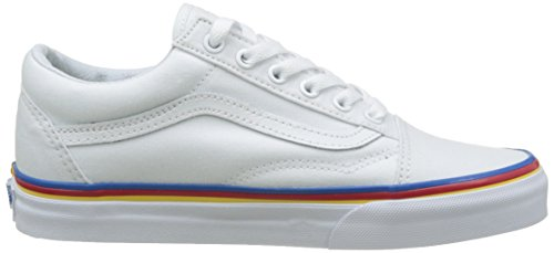 Vans Ua Old Skool, Sneakers Basses Femme Blanc (Rainbow Foxing True White)