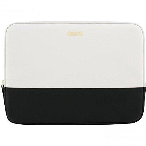 Kate Spade New York ksmb-019-bcg Colour Block Sleeve für MacBook 13/Laptop-Saffiano schwarz/Creme/Gold