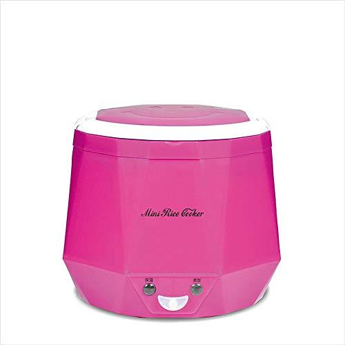 La Mini Cocina De Arroz, Pote De Cocinar De Múltiples Funciones Portable, Vapor Del Alimento, Se Puede Utilizar Para El Hogar/El Coche, Para 2 Personas, 1.3 L,Pink,24V