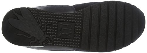 FLY London Pora829fly, Baskets Basses Femme Noir (Black/grey/black 000)