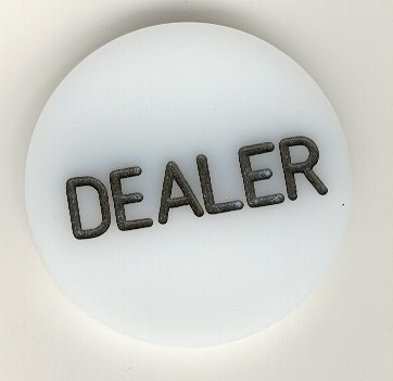 Trademark Poker Acrylic Dealer Button - Engraved Professional Casino Table Accessory for Poker, Texas Hold-Em, Blackjack and Other Card Games
