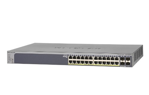 NETGEAR GS728TP-100EUS ProSAFE (24-Port Gigabit Smart Managed Switch mit POE and 4 SFP Ports)