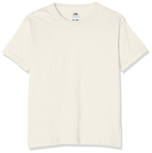 Fruit of the Loom Jungen T-Shirt, Natur, 9-11 Jahre (140) - Loom Natur