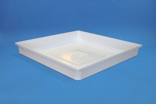 daniplus© Wasserauffangwanne 70 x 70 x 10 cm, Auffangbehälter, Bodenwanne, Wanne für Waschmaschine - schützt vor auslaufendem Wasser