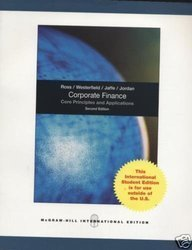 Corporate Finance: Core Principles and Applications by Stephen A. Ross (2008-10-01)