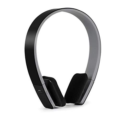 Schwere Bass-Handy-Universal-Stereo-Wireless-Sportkopfhörer mit Bluetooth-Headset (Color : Black)