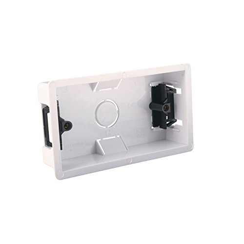 2 Gang Double 35mm PVC Dry Lining Plasterboard Mounting Back Box by Knightsbridge Flush-mounting Box