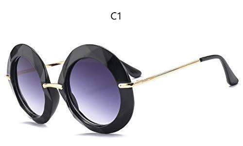 Sonnenbrille Gelber Rahmen Runde Vintage Sonnenbrillen Übergroßen Schwarzen Kreis Gläser Black Frame Designer Frauen Luxus Grün Rot Sommer Gläser Uv 400