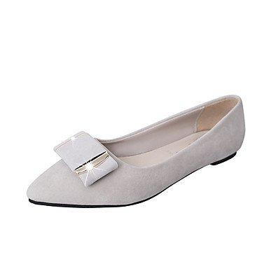Wuyulunbi@ Scarpe donna pu Primavera Estate Comfort sandali Chunky tallone punta aperta la fibbia per vestire Party & Sera grigio nero Rosa Blu US6 / EU36 / UK4 / CN36