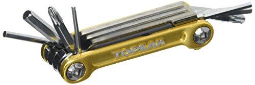 Topeak Mini 9 Pro Miniwerkzeug Mini Klapp Tool Fahrrad Innensechskant Schraubendreher + Tasche, Mini9Pro gold