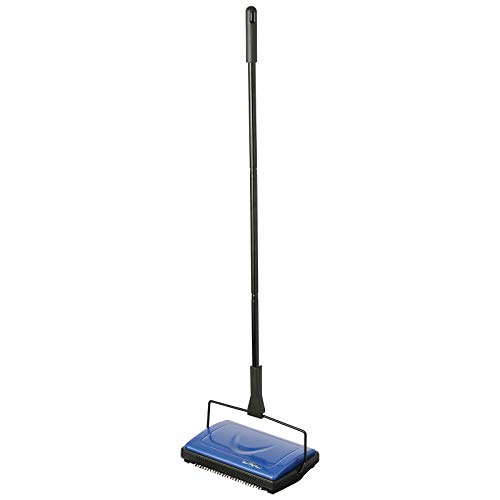Dustcar Leichter Besen für Teppiche und Hartböden, Blau - Leichte Kehrmaschine, Besen
