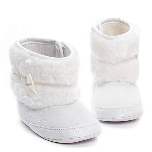 Baby-kalb Schuhe (Tukistore Winter Warm Baby Plüsch Schnee Stiefel Weiche Sohle Anti-Rutsch Mid Kalb Krippe Schuhe Warm Babyschuhe Prewalker Kleinkind Schuhe)