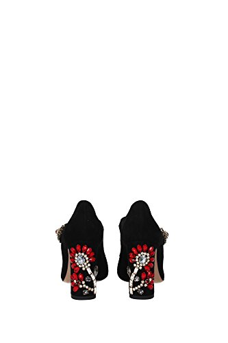 CD0574AD79180999 Dolce&Gabbana Talon Femme Chamois Noir Noir