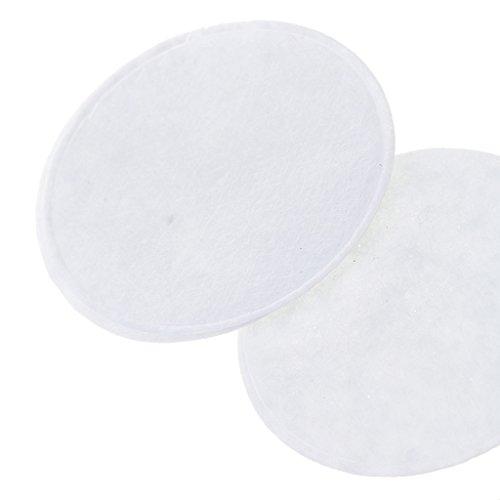 100x 40mm Gepolsterte Runde Form Handwerk Filz Stoff Polyester handmade Filzstoff Bastelfilz DIY Stoff Sewing – Weiß, Durchmesser 40mm