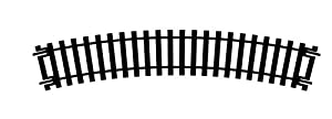 Hornby R606, Modelo tren ferroviario vía única curva, 438 mm, 22 ° 5