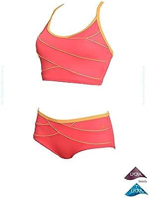 Laure Manaudou - Bikini para aquagym culotte modelador coral Kôh