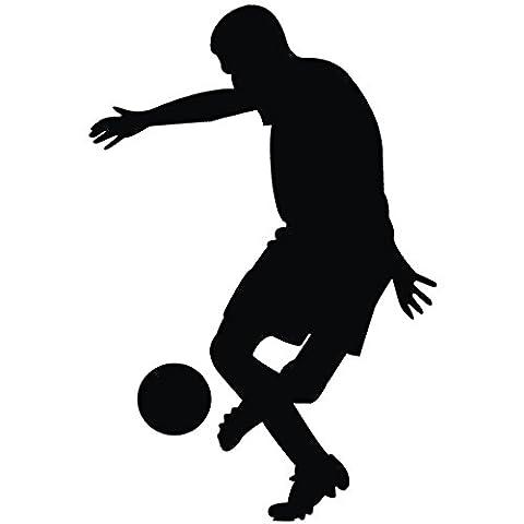 Wadeco Fußball Spieler Trick Wandtattoo Wandsticker Wandaufkleber 35 Farben verschiedene Größen, 88cm x 132cm, (Feld 48 Tor)