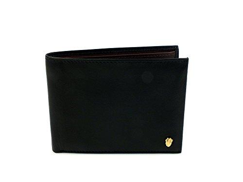 CAVALLI CLASS portafoglio uomo wallet PELLE BLACK BURGUNDY NERO C61PMCLAL133B10 U