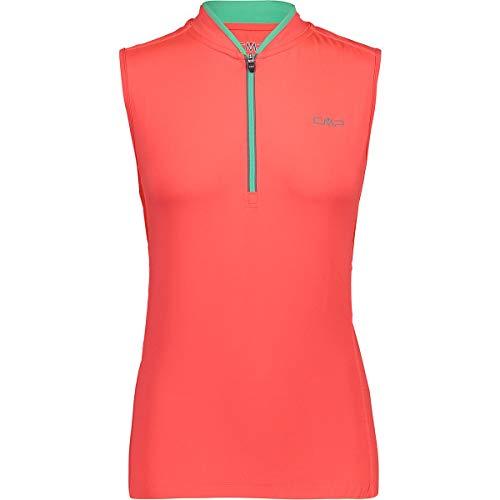CMP Damen Rad Shirt Trikot, Red Fluo-Aquamint, 40