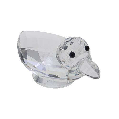 SM SunniMix Kristallfigur Crystal Collection Tierfigur Dekofigur als Handschmeichler oder als Glücksbringer - Ente -