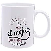 Tic-Clap Taza El Mejor Abuelo del Mundo Tu Eres, Porcelana, Blanco,