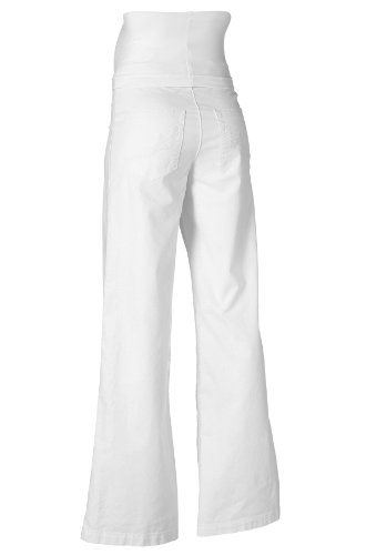 noppies Lin Pantalon extensibles Leinenstretch Marrakech avec Flair & variable Fédéral 70433 - Blanc, M 38/40 Blanc